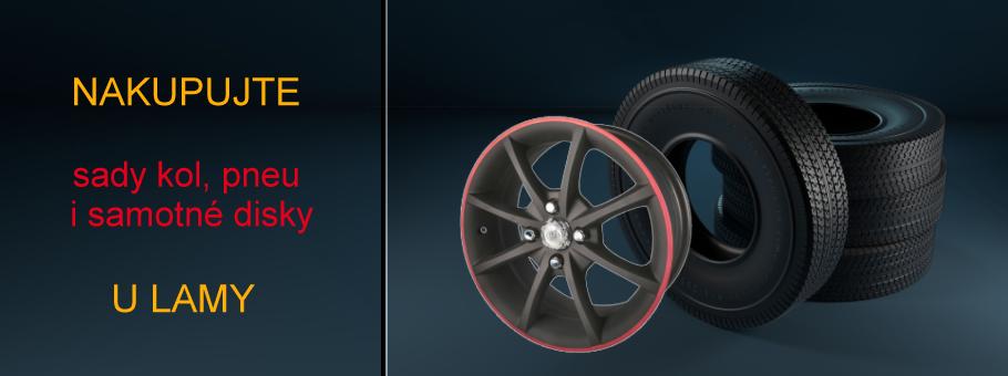Pneumatiky, levné pneu, alu kola a plechové disky od Autolama
